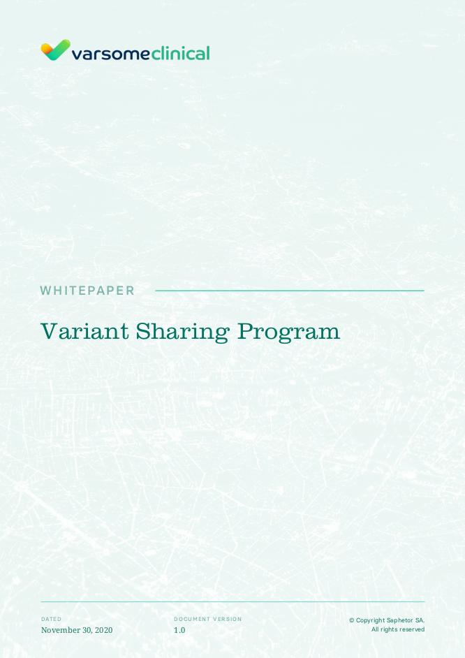 Variant Sharing Program