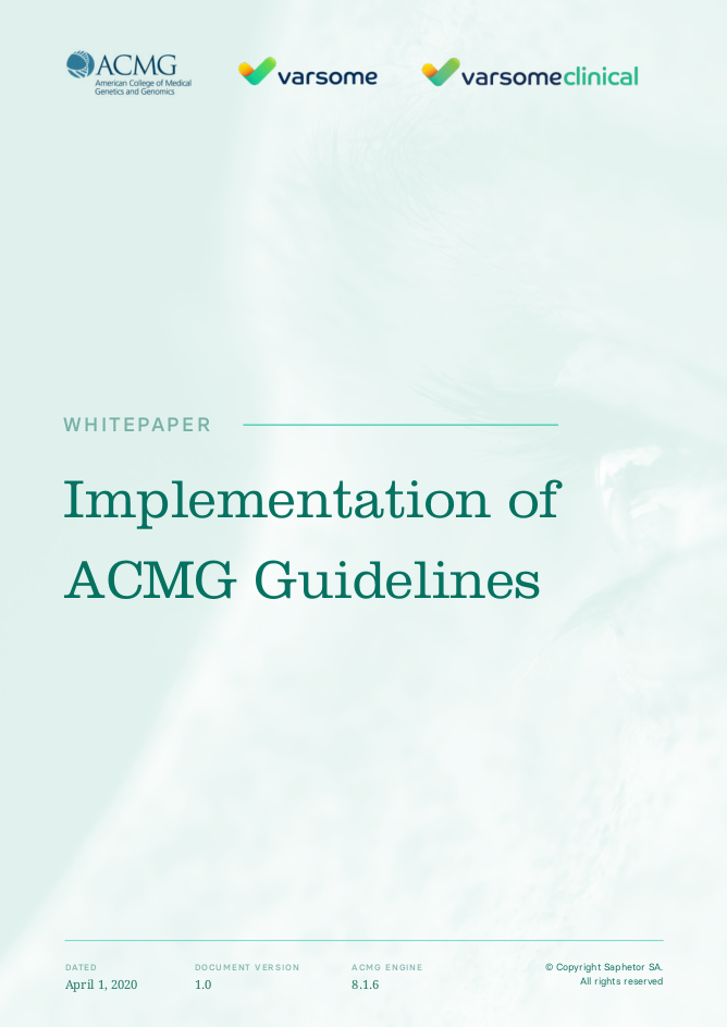 VarSome's Implementation of ACMG Guidelines